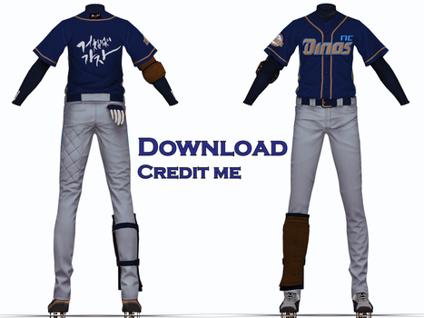 MMD: Baseball outfit dl by KlaidAstoria