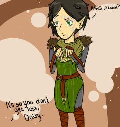 Merrill Dragon Age II doodle by dMourn3ing-the-Glory