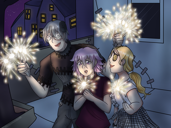 sparklers by TheApatheticKat