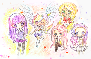 My Little Pony Doodles by mochatchi