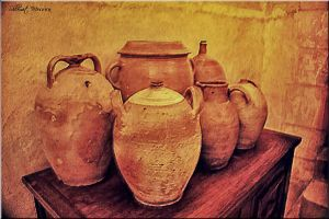 Jugs on a table by ShlomitMessica