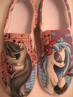 Octavia and Vinyl Scratch Mlp Shoes by Acrylicolt