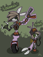 Pokeself Rickety and Cogwraith by Rickz0r