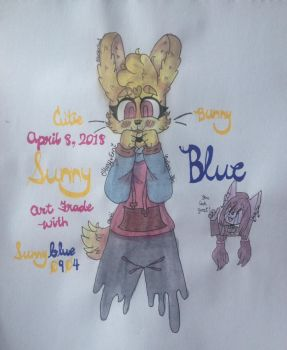 Sunny Blue (Art Trade with Sunnyblue0904) by Pusheen-Tfm