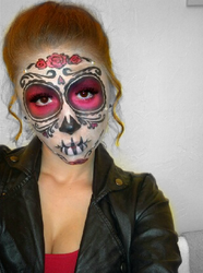 Sugar Skull (Day of the Dead Face Paint) 3 by Kisskiss64