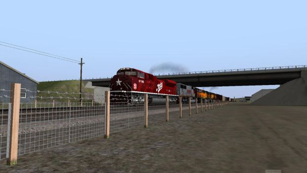 UP 1988 on BNSF by LoneSpartan224