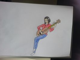 Girl with a Guitar by Aiclo