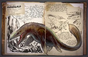 Ark: Survival Evolved Dossiers: Mosasaurus by Dinosuarjosh