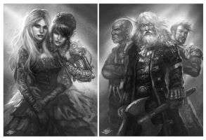 Master of the Seven Skies Sketches by mlappas