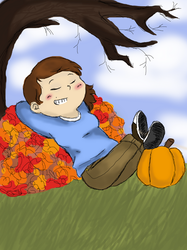 Fall is here by Booboo-kitty-cat