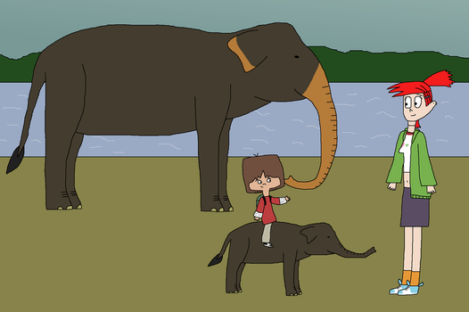 Riding Some Elephants by WildandNatureFan
