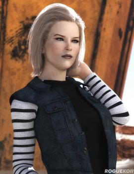 Android 18 (1) by roguekoii