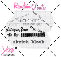 Random Fonts by yoaeditions