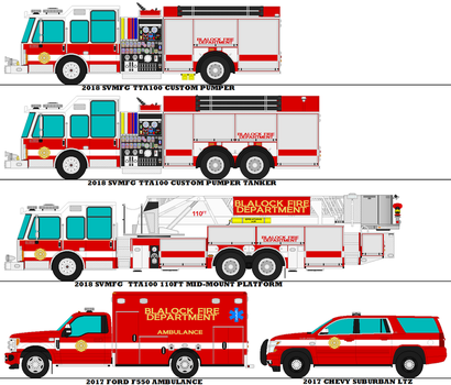 Blalock Fire Dept. Roster by MisterPSYCHOPATH3001