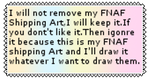 I Will Not Remove FNAF Shipping Art stamp (RQ) by Polarbearshygirl