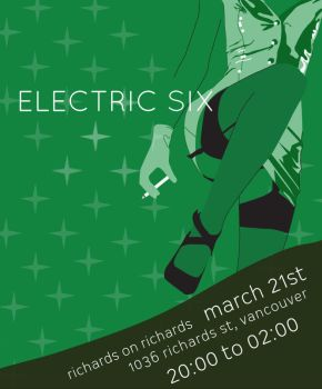 electric six poster by pokadotspider