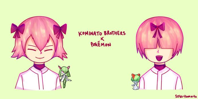 Kominato Brothers x Pokemon by thecym