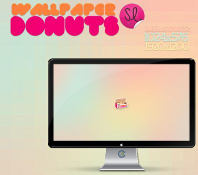 Wallpapers Donuts by coral-m