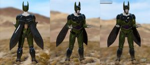 Perfect Cell Zbrush angles by SchneeKatze09