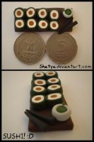 Fimo sushi :D by Shatya