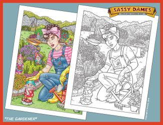 Sassy Dames : Coloring Book - The Gardener by Shannanigan