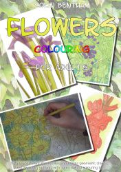 Flowers Colouring Book cover by Colin-Bentham