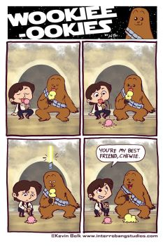 Wookie-Ookies: Han and Chewie by kevinbolk