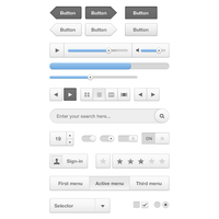 Cloudy UI (User Interface) Kit PSD by softarea