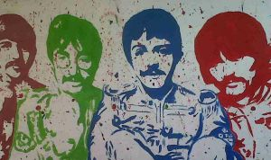 Sgt Pepper Painting by The-Girl-Who-Waited