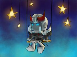 Chibi Prowl in the Stars by The-Starhorse