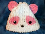 Pink Panda Hat for Erin by SmilingMoonCreations