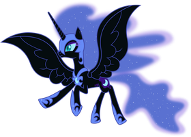 Nightmare Moon in Flight by 90Sigma
