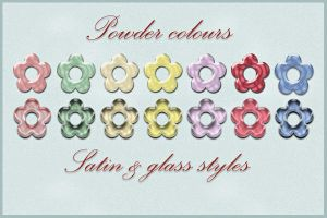 Satin and glass styles by MrsLavender