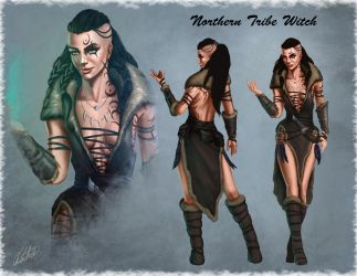 Tribal Witch by AlmenFred