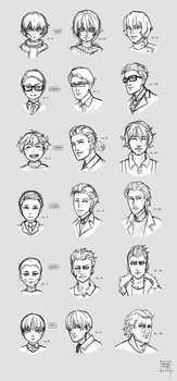 Sketchdump September 2017 [Character levelup] by DamaiMikaz