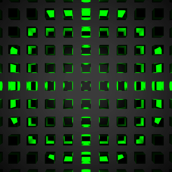 Green Green Glass Cubes by sethiroth66