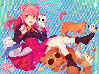 DOKIDOKI CRATE SEPTEMBER BOOKLET COVER COMMISSION by taxikun