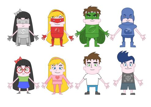 DrawPlus X8 - Cartoon Character Concepts by Duartwork