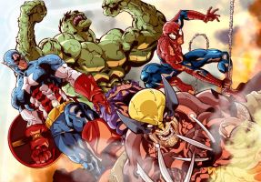Avengers Assemble colors by Tursy