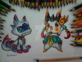 Cazeaje jr and Thanatos Jr - Grand Chase by AlexiaRodrigues