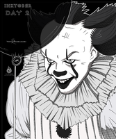 INKTOBER DAY 2 - PENNYWISE by Fairloke