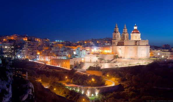 Il-Mellieha in the evening. Malta by Sergey-Ryzhkov
