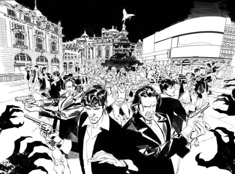 DyLAN DOG 371 Double Cover B/W by GigiCave