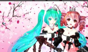 Miku and Teto Background - 3 by MMDTeto13