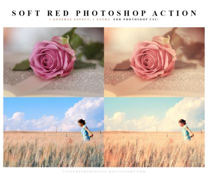 Soft red Photoshop Action by lieveheersbeestje