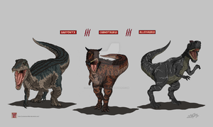 Fallen Kingdom Predators by JurassicWorldFan