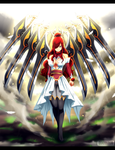 Fairy Tail chapter 431 - Erza sword-wings armor by Kortrex