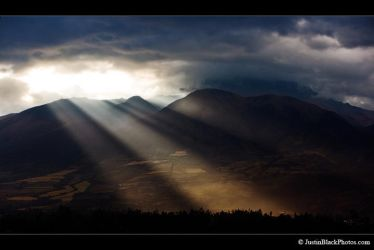 Sunrays over Cotacachi by justinblackphotos