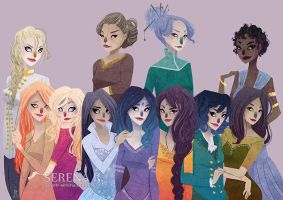 [Commission] Wheel of Time Ladies by SerenaR-art