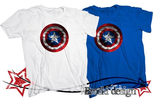 Captain America Tee by emailartist26